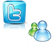 messegner y twitter
