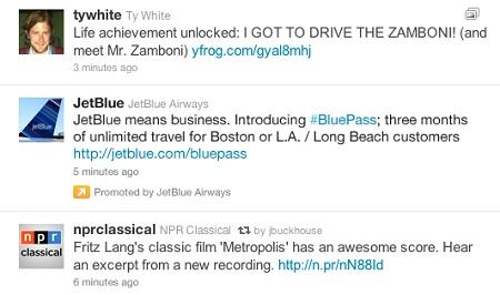 tweets patrocinados