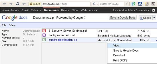 zip rar gmail google docs