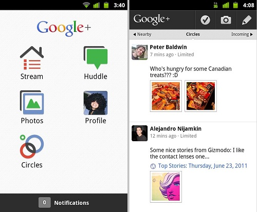 app google+ android