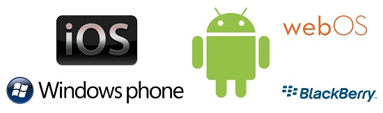 ios android blackberry wp7