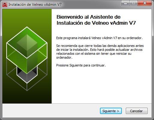 Velneo vAdmin V7 install