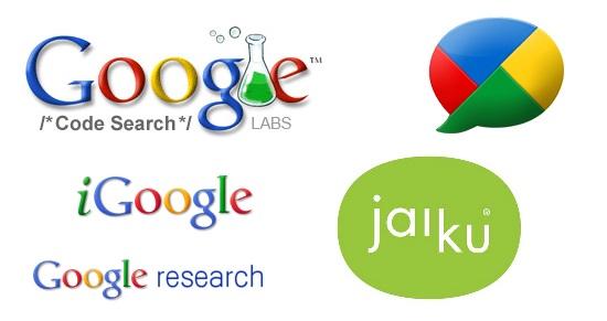 servicios google retirados buzz igoogle research code search jaiku