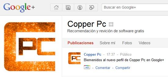 Copper pc google plus