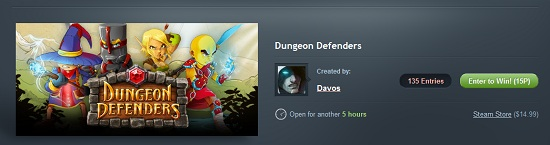 dungeon defenders steamgifts