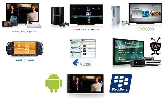 vuze compatibilidad dispositivos